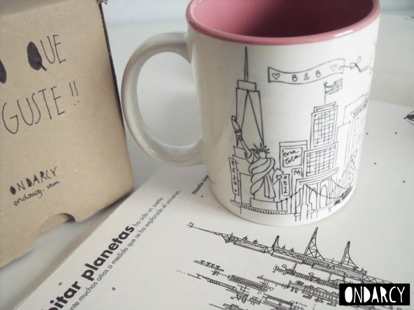 taza personalizada new york