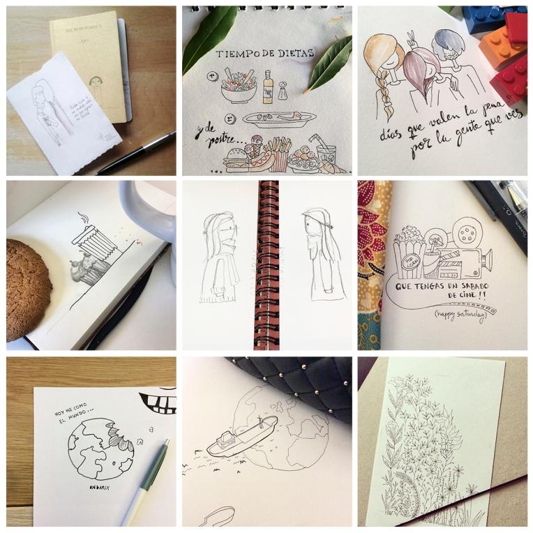 instagram drawing dibujo